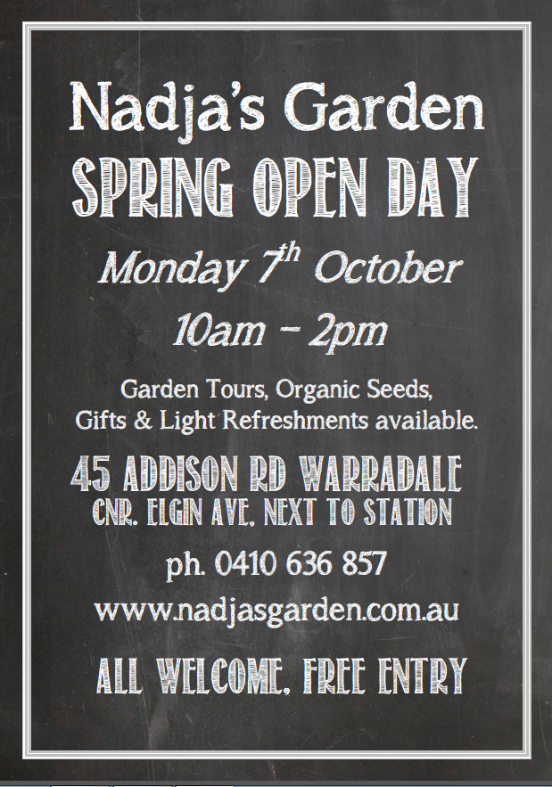 spring open day poster